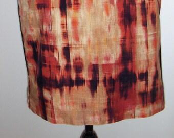 ESPRIT Germany vintage velvet mini skirt/ Burnt orange, brown and beige skirt/ Size 8 US, 38 EUR mini skirt