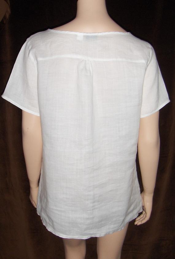 NUOVO M/&S Una Cotone Per Stampa Floreale Camicia Blusa-misure UK 8-22
