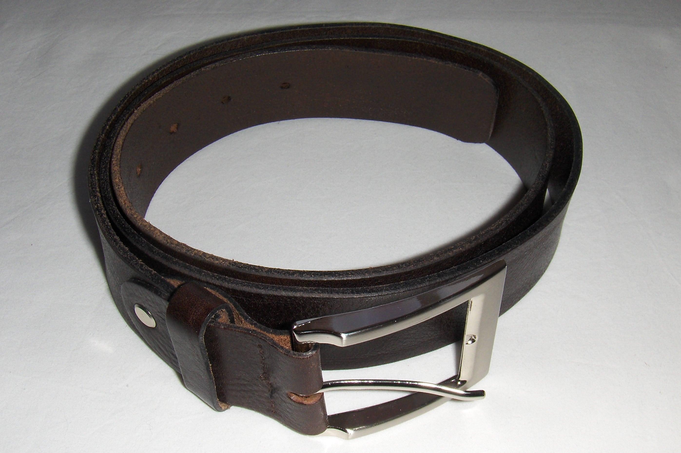 264cf594157fa TOPECO Männer dunkelbraunes Leder Vintage Gürtel mit