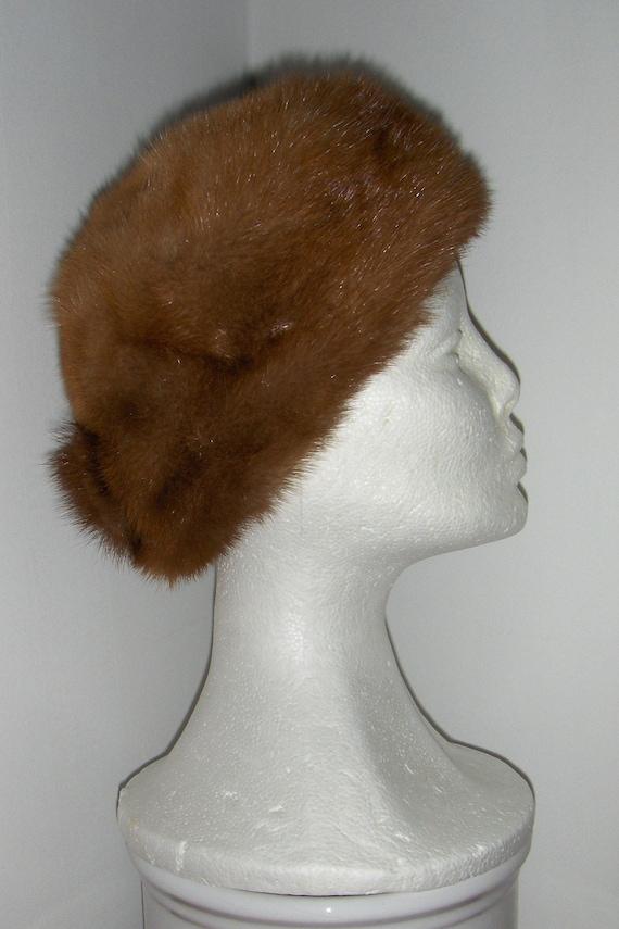 Swedish vintage mink fur hat  Womens fur hat  Brown elegant  8de4a83ebb1