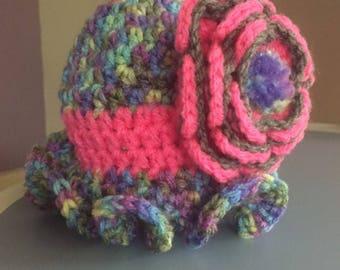 Chapeau nouveau-né fille, idée de cadeau de Shower de bébé, peut être personnalisé,