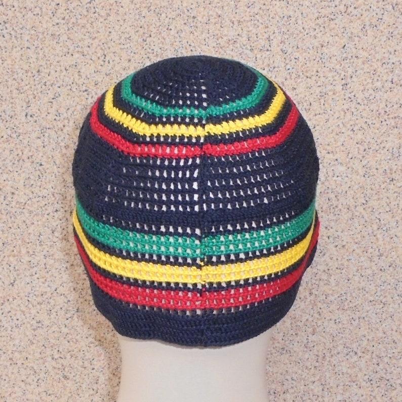 Rasta hat Handmade cotton thin summer skullcap Beach lightweight sun hat Hippie yoga travel outfit Hipster aesthetic clothing for men women
