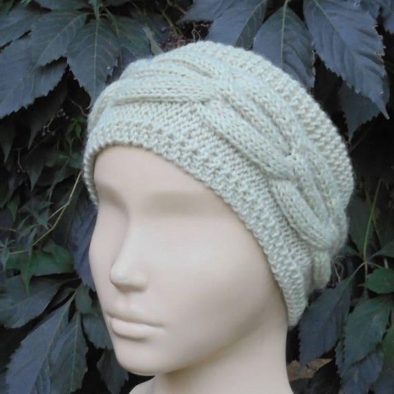 e664069fe03 Gray knit headband for women Adult wool earwarmer Winter ski