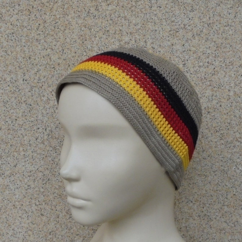 551a1b23fc2 Germany flag hat Cotton skullcap Black red yellow hat Germany