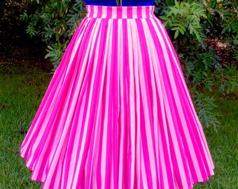 "Cheshire stripe ""Katherine"" pleat skirt size S"