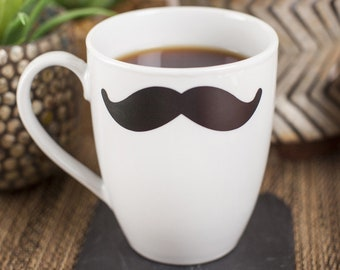 mustache coffee cup etsy
