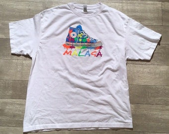 f2ee1af6a72e Malaga Converse Chuck Taylor Vintage Roly White T-Shirt Unisex Large