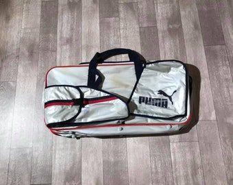 cc4d534f65 Vintage Puma 80s 90s Large Travel Sports Bag - Distressed Markings