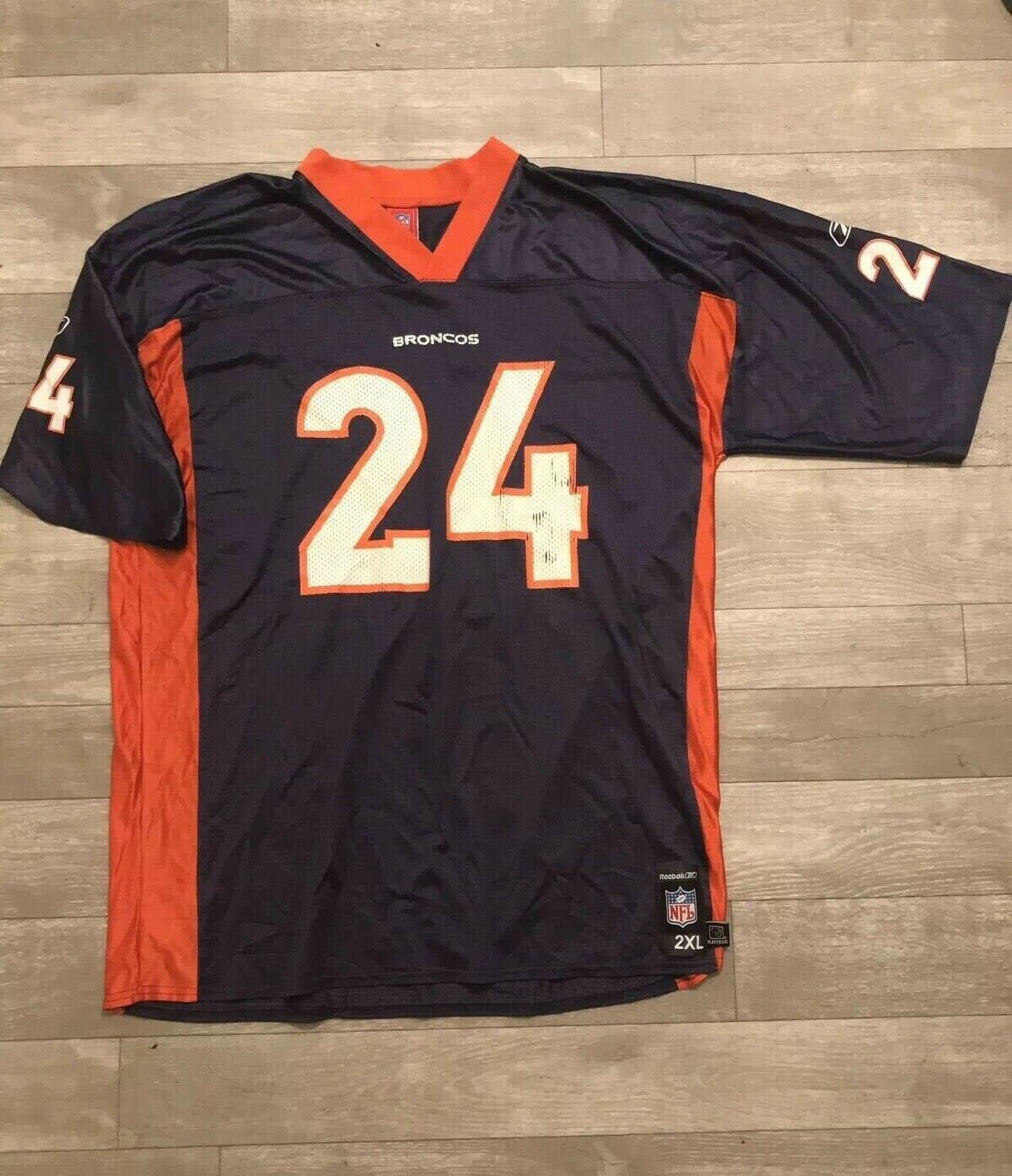 00 Reebok Denver Broncos Champ Bailey Jersey Vintage Mens Size 2XL Football VTG 2000s NFL, Vintage Clothing , Denver Broncos Memorabilia ,