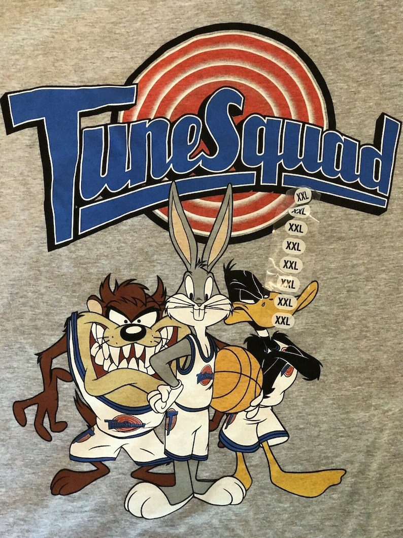 Space Jam Tune Squad Looney Tunes Bugs Daffy Taz Wile  E Coyote Men's T  Shirt 2X, Vintage CLothing , Vintage , Looney Tunes, Streetwear