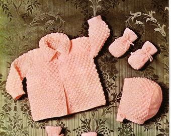 Vintage knitting pattern Copley 1022