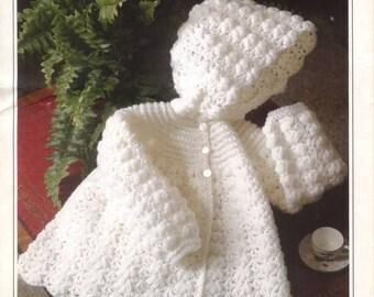 Peter pan p685 crochet hooded jacket