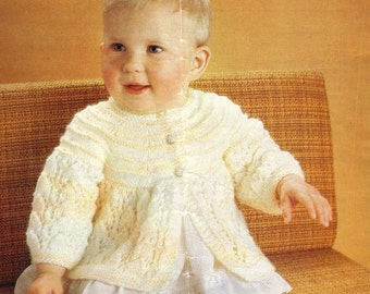 Vintage knitting pattern matinee coat