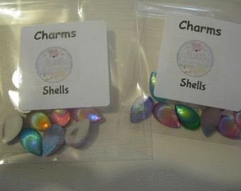 2 tone shells charms