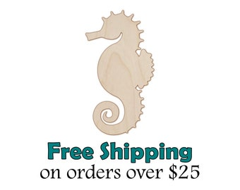 Wooden seahorse etsy seahorse wood cutout natural wood seahorse cut out laser cut unfinished wooden seahorse shape paintable stainable diy craft shape solutioingenieria