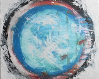 Abstract Circle Acrylic Painting Fine Art