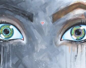Dramatic Eyes Fine Art Painting