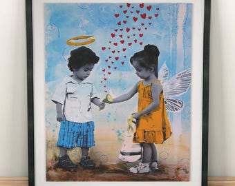 Hearts Aflutter - Fine Art Print