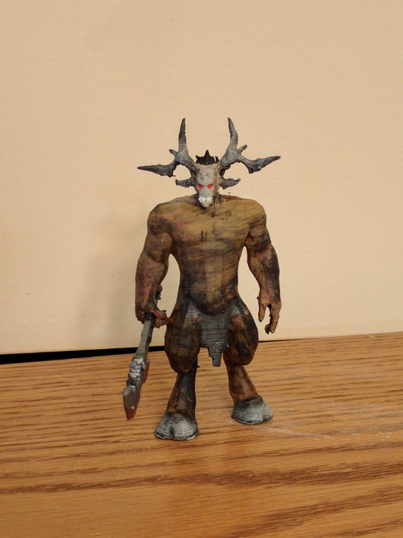 Items similar to Baphomet, Fiend, Demon Lord of Minotaurs Mini on Etsy