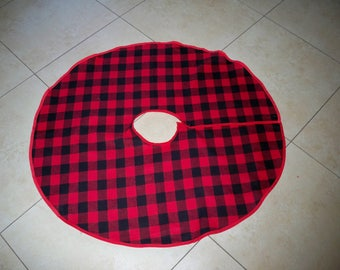 buffalo plaid christmas tree skirt red and black - Christmas Tree Skirts Etsy