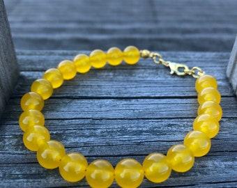 Honey Jade Happiness Gemchip Bracelet