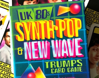 UK 80s Synth-Pop & New Wave - Trumps Card Game (New Order, Tubeway Army, Depeche Mode, Art of Noise, Human League, Fad Gadget)
