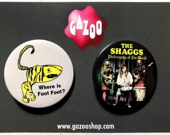 """THE SHAGGS - Set of 2 Pin Badges (1.5""""/38mm) Outsider Music"""