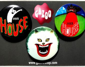 "HAUSU / HOUSE - Set of 3 Pin Badges (1.5""/38mm)"