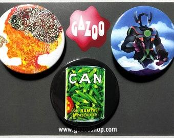 "CAN - Set of 3 Pin Badges (1.5""/38mm) Krautrock"