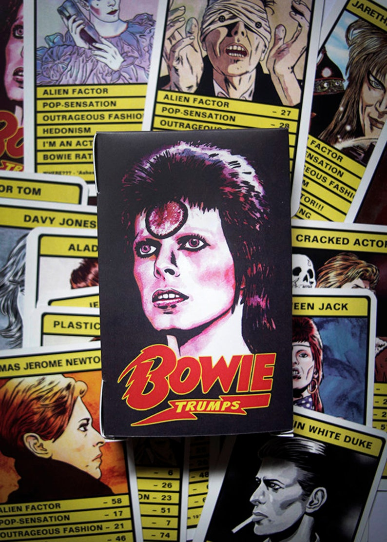 Bowie 'Trumps' Card Game  30 different Bowie personas image 0