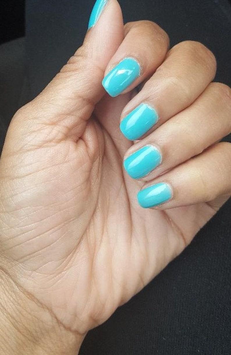 Blue Nail Polish Tiffany | Etsy