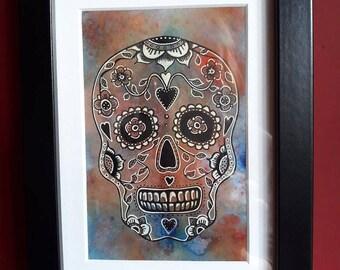Multicolour Sugar Skull