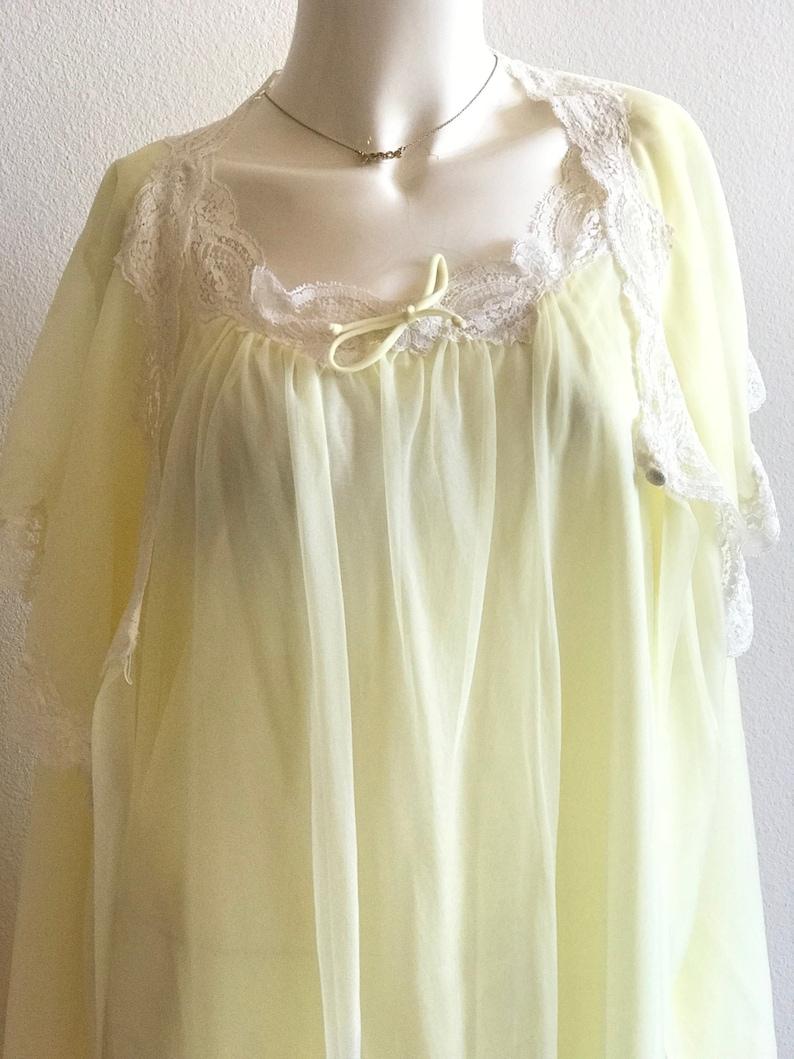 f750f51f2597 Soft Yellow Peignoir Set Medium 36 / Wedding & Bridal | Etsy