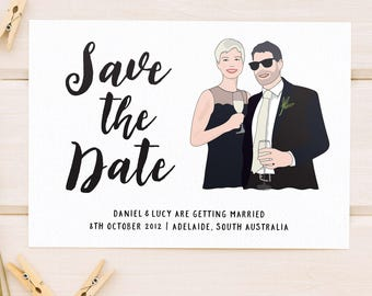 Save the Date, Couple Portrait, Couple Portrait, Save the Date Card, Save-the-Date, Photo Save the Date, Engagement Card, Pet Portrait