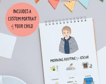 Morning Routine, Routine Chart, Routine Checklist, Daily Routine, Morning Chart, Daily Routine Chart, Kids Routine, Morning Checklist, Print