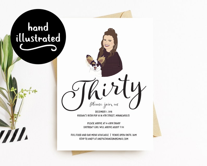 30th Birthday Invitation Party Invite Custom