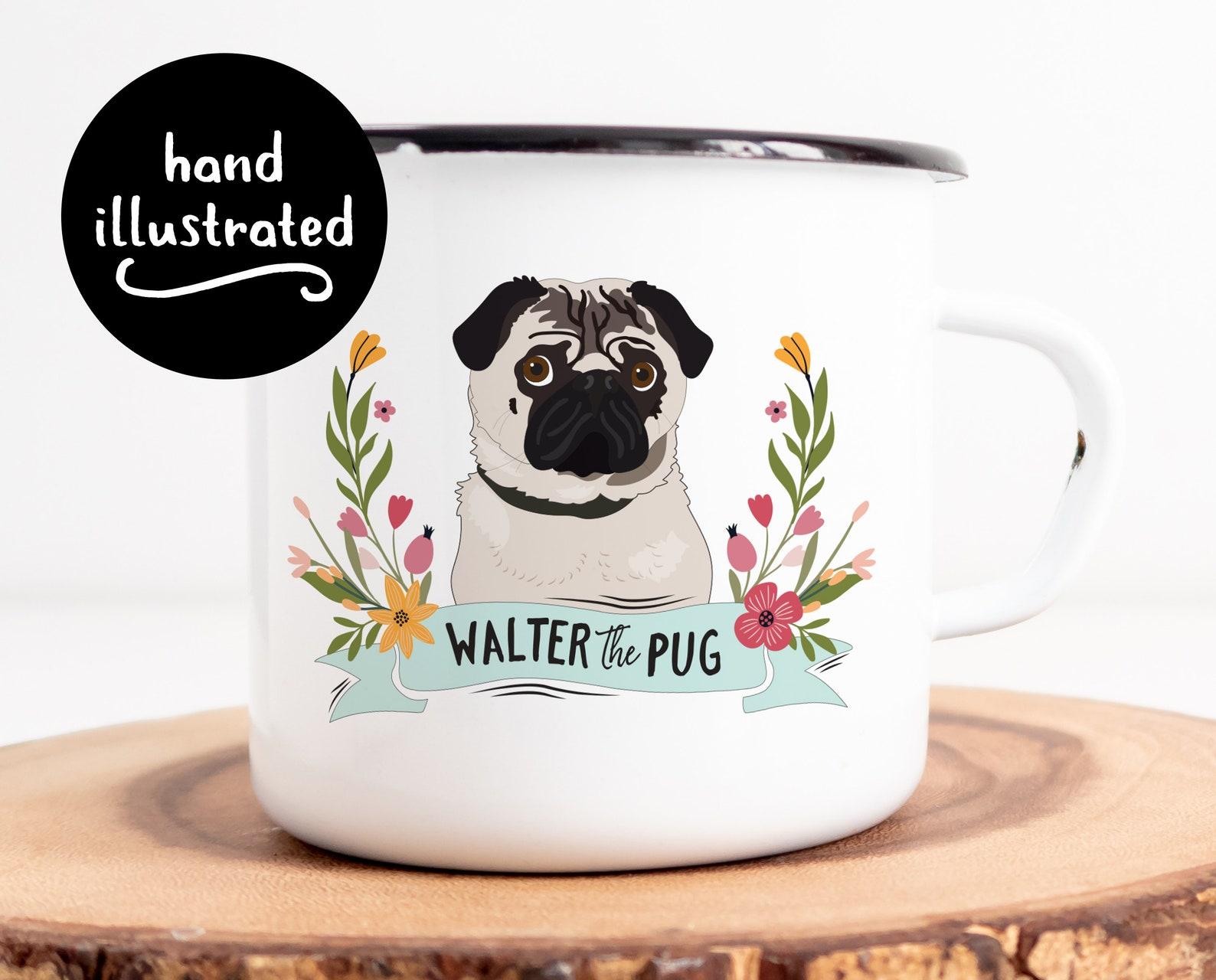 Custom dog portrait mug