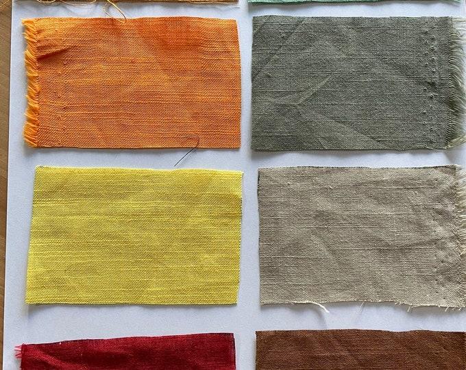 Natural Pure Organic Linen Fabric 100% Cotton Fabric Cushion 150 cm wide  Baumwollstoff  Fabric