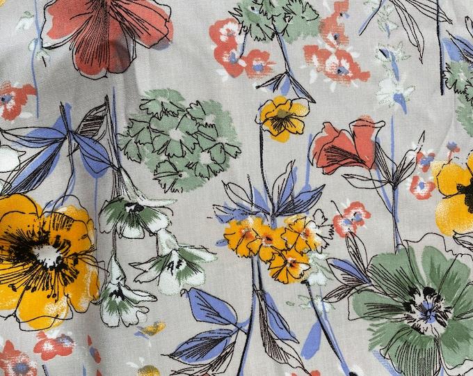 DIGITAL PRINTED %100 Cotton Linen Fabric Curtain Upholstery Cushion 150 cm wide  Baumwollstoff - Linen Fabric