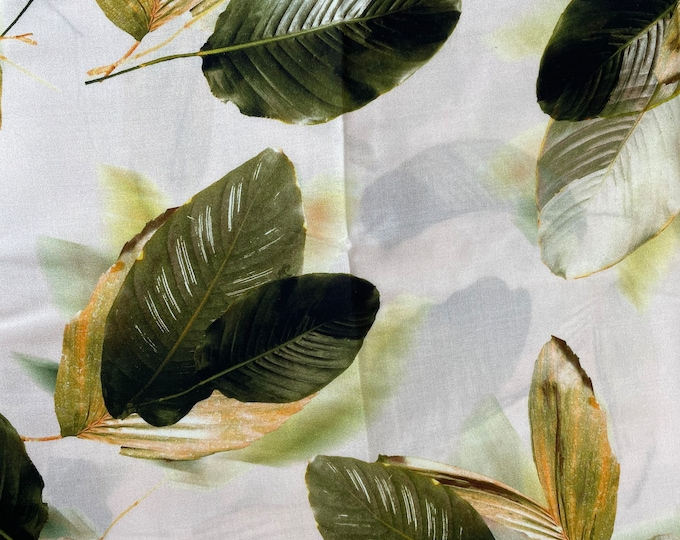 Floral DIGITAL PRINTED Cotton Viscose Fabric Curtain Upholstery Cushion 150 cm wide  Baumwollstoff - Viskosestoff Viscose Fabric