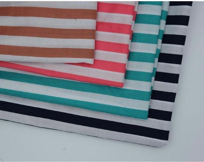Stripe Printed Viscose Cotton Fabric Curtain Upholstery Cushion 150 cm wide  Baumwollstoff - Viskosestoff Viscose Fabric
