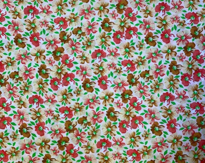 Floral DIGITAL PRINTED Cotton Fabric Curtain Upholstery Cushion 150 cm wide  Baumwollstoff - Viskosestoff Viscose Fabric
