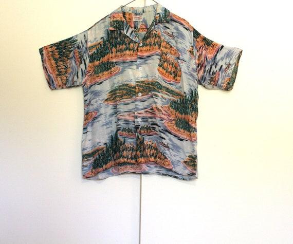 Vintage 50's Rayon PROVINCIAL SENCE Hawaiian Shirt