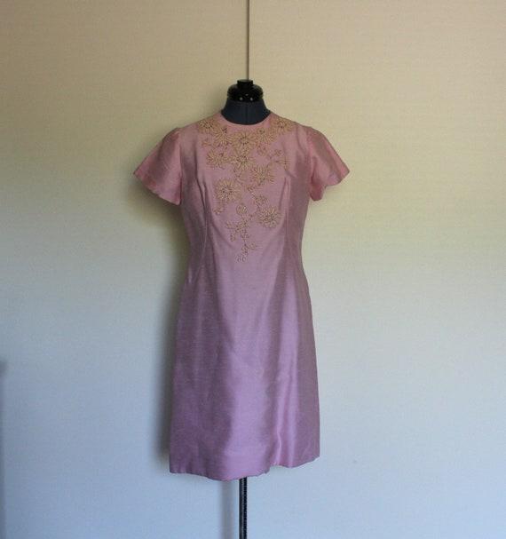 Vintage 50's SYLVIA ANN Pink 2-piece A-Line Dress