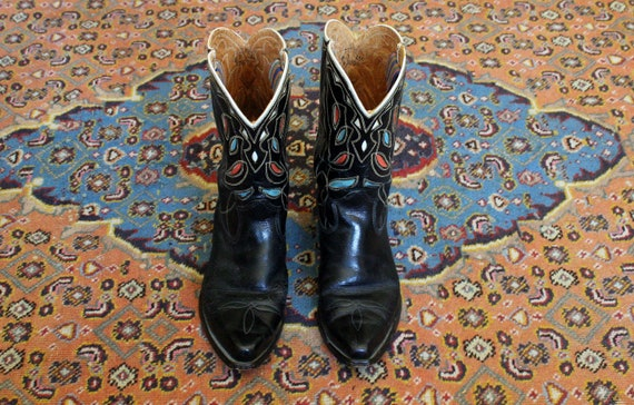 Vintage 50's TEXAS Brand Square Toe Shorty Boots C