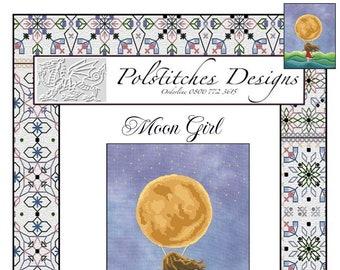 Moon Girl  -  Cross Stitch Chart PDF
