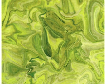 Seascape Collection Fabric  - Lime 100% Cotton