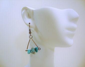 Turquoise Earrings, Carnelian Earrings, Gemstone Jewelry, Dangle Earrings, Drop Earring, Gemstone Earrings, Turquoise Jewelry, Carnelian