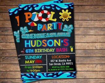 birthday pool party etsy