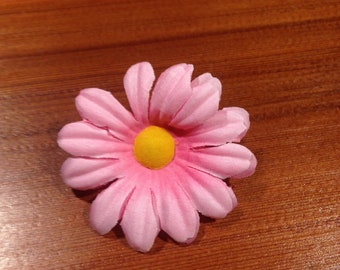 Artificial daisies etsy bulk daisies 36 pcs daisies artificial flowers creamypink or blue and yellow center 2 wedding party decoration table centerpieces mightylinksfo